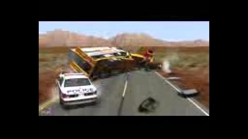 Скоростные погони и фатальные аварии Игры про тачки и гонки Разбиваем машины в хлам 144 X 176 3gp
