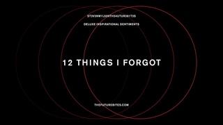 Steven Wilson - 12 THINGS I FORGOT (Official Audio)