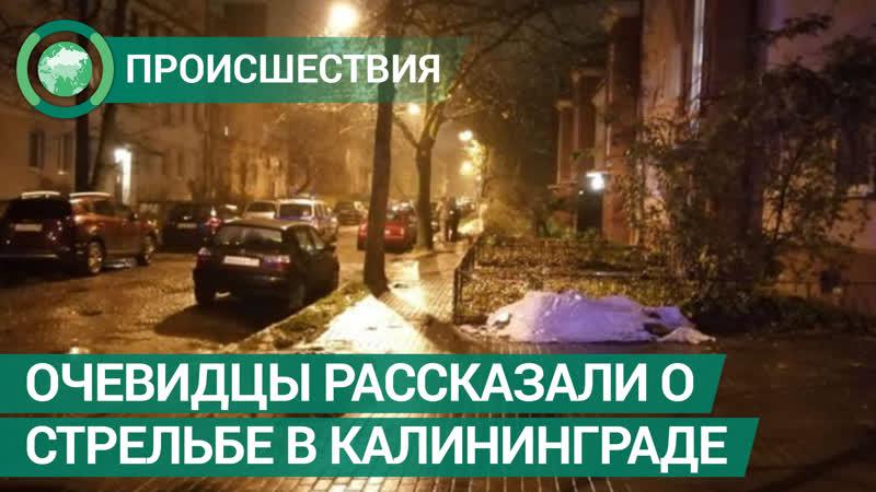 Очевидцы рассказали ФАН о стрельбе в Калининграде
