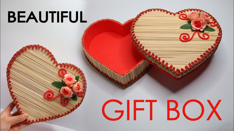Ide kreatif wadah serba guna | Kreasi Kotak Yang sangat cantik dari tusuk sate !