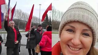 Автопробег и митинг у монумента Славы граждан СССР Новосибирского облисполкома 7 ноября 2020