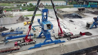 TEICHMANNGROUP: Delivery and assembly of 25t double jib level luffing crane