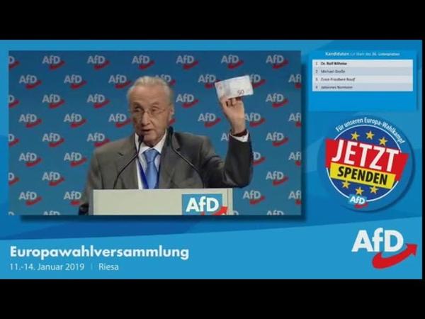 Dr. Rolf Böhnke AfD. Ich fordere eine radikale Reform des Euro 14.01.2018
