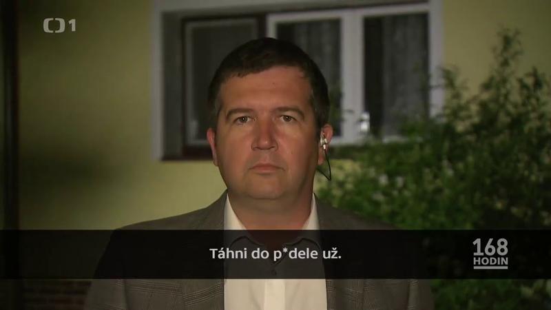 Hamáček a jeho soused nadávky urážky vulgarity 18