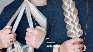 DIY Basic 5 five Strand Braid the EASY WAY by Another Braid #shorts