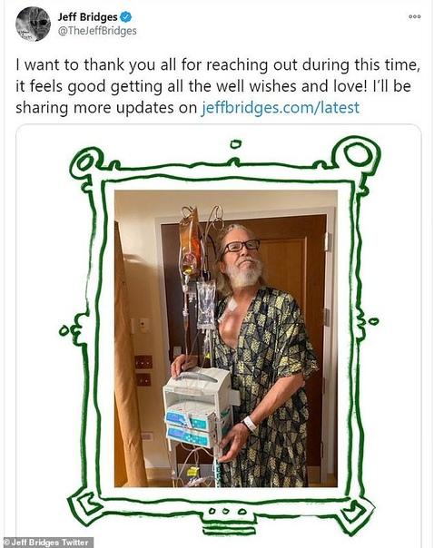 Джефф Бриджес опубликовал первое фото после выявления лимфомы