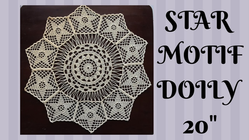 HOW TO CROCHET DOILY|STAR MOTIF DOILY|TABLE RUNNER|TABLE MAT|20 DOILY|CHRISTMAS DECORATION|EASY