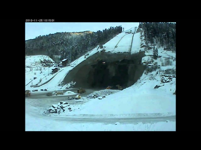 Vikersund - construction of the largest skiflying hill in the world