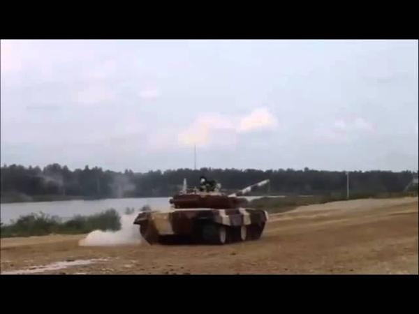 Один танк утопили другой перевернули Танковый биатлон 2015
