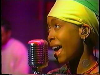 The Roots ft  Erykah Badu on Letterman (3/2/1999)