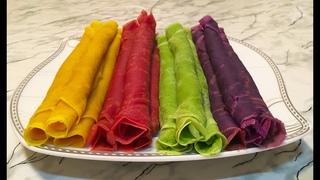 Цветные Блины / Colored Pancakes / Разноцветные Блины / Красивые Блины На Масленицу
