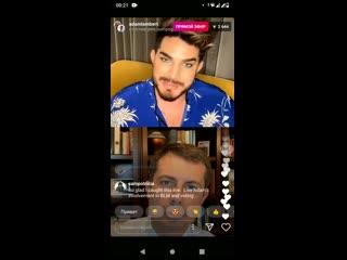 Adam Lambert chats with  - 10/09/2020