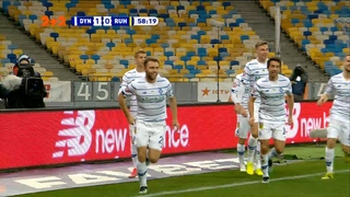 УПЛ | Чемпионат Украины по футболу 2021 | Динамо - Рух - 1:0. Видео гола Караваева (59`)