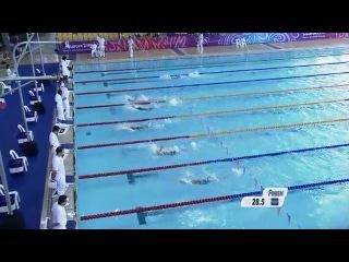 Women's 50m backstroke heats singapore 2010