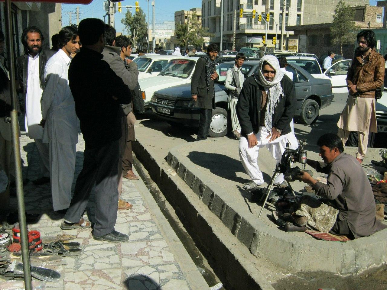 На базаре в Захедане, Белуджистан