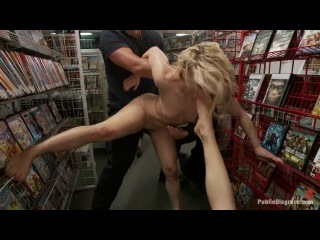 Hot blonde fucked and humiliated in public