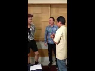 XIA Junsu before Mexican interview (Antes de la entrevista con Fer Gay en Mexico)