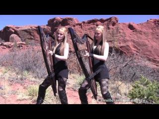 Американские сестры-близнецы игрют на арфах!!! Metallica - Nothing Else Matters (Electric Harp Duet) Camille and Kennerly, Harp Twins