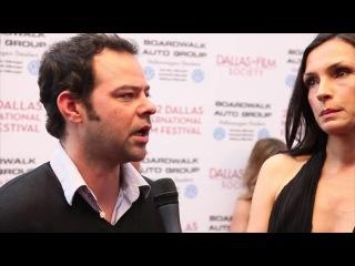 Фамке Янссен на кинофестивале в Далласе 2012 год