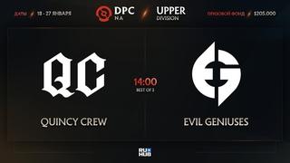 Quincy Crew vs Evil Geniuses, Dota Pro Circuit 2021: S1 - NA, bo3, game 3 [Mila & Inmate]
