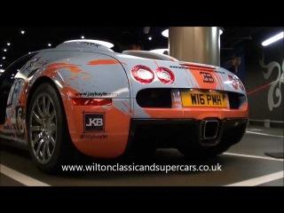 CRAZY painted Bugatti Veyron Start-Ups, LOUD revs QUICKSILVER exhaust in London!