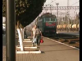 Смена локомотива на станции Джанкой (Придн ж\д, УЗ)