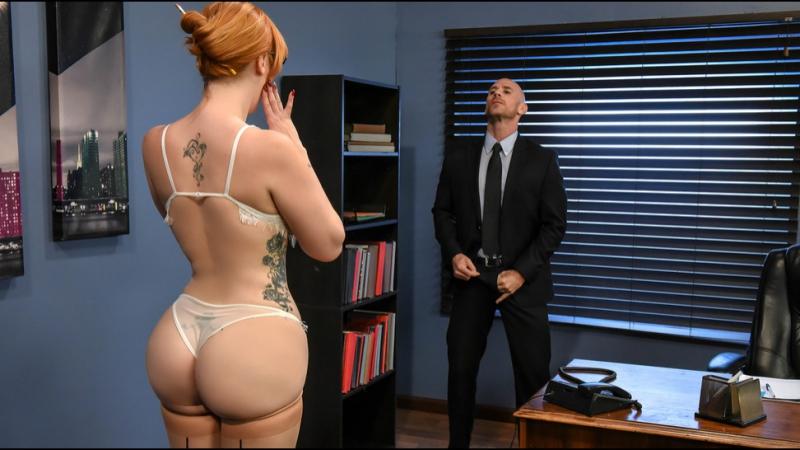 Lauren Phillips HD 720, Big Tits, Redhead, Natural Tits, Secretary, Work