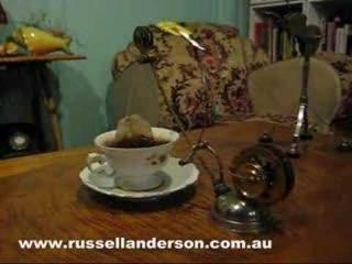 steampunk tea making kinetic art