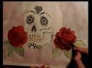 Speed up drawing of Mexican Skull / Sugar Skull