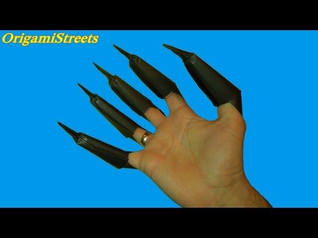 Как сделать когти чёрной пантеры Оригами из бумаги когти чёрной пантеры