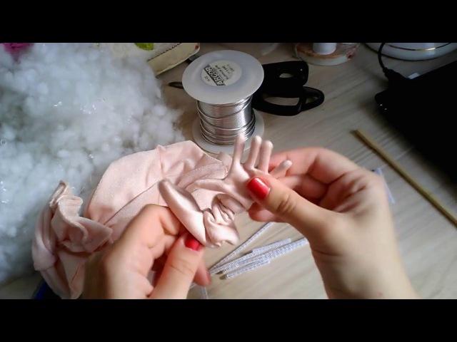Как сделать проволочный каркас для пальцев рук и ног куклы по выкройке Джилл Маас Jill Maas