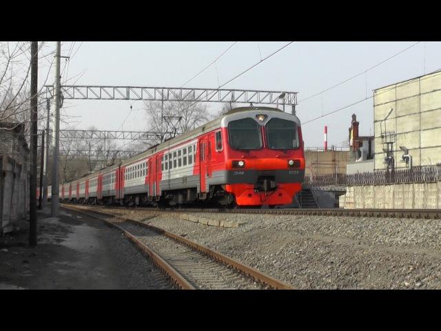 Электропоезд ЭД4М-0050 платформа Станколит
