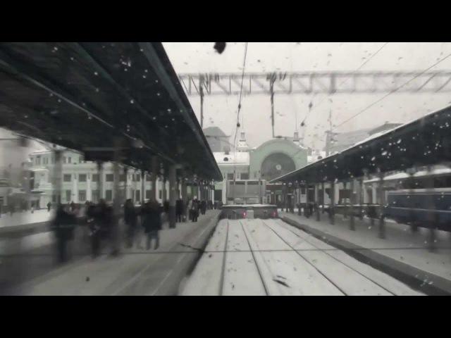 Ускоренное видео из кабины электровоза ЧС7-053 с поездом Брест - Москва