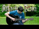 Attack on Titan OP1 - Guren no Yumiya - Fingerstyle Guitar Cover