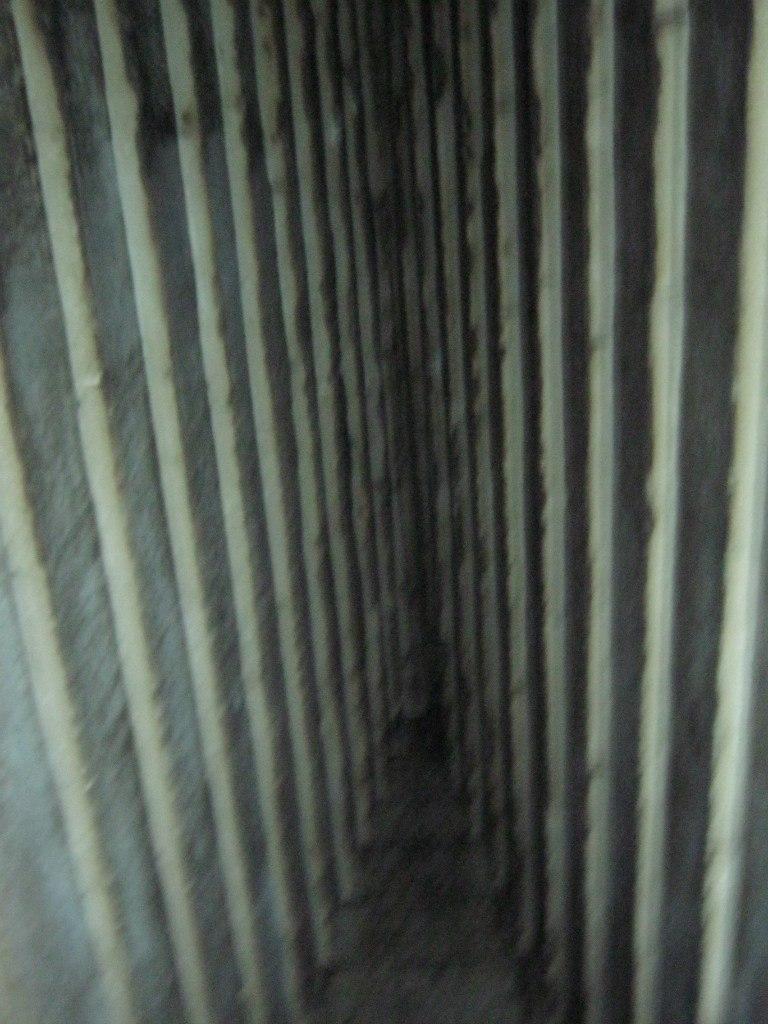 Потолок в комнате внутри Красной пирамиды в Дахшур