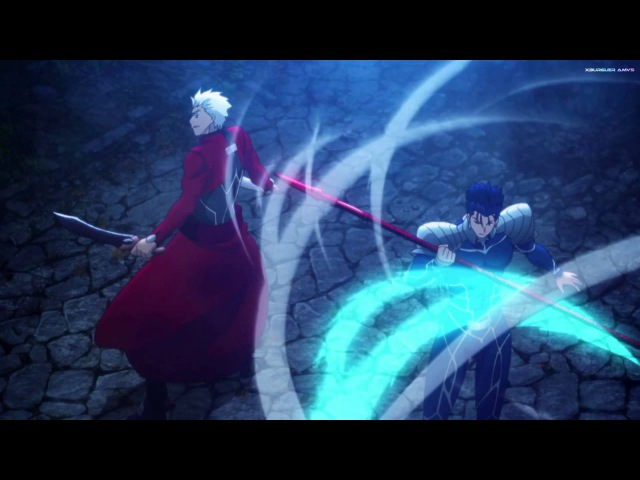 FSN UBW [AMV] Lancer vs Archer All Fights - Riot ♫