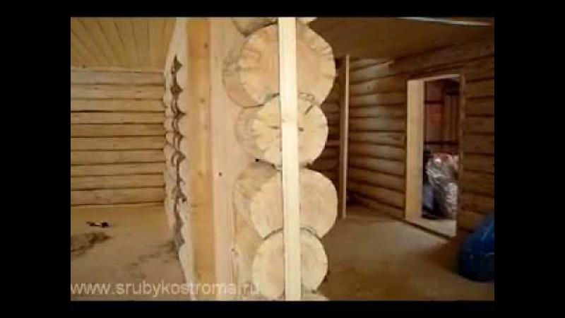 Дом из бревна. Внутренняя отделка сруба после усадки.