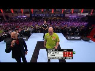 Michael van Gerwen vs Jamie Lewis (World Matchplay 2015 / Round 2)