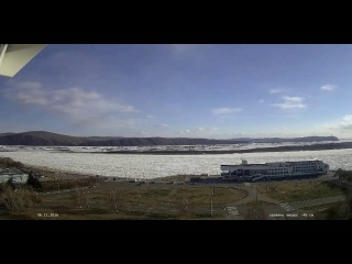 Ледостав 2016 на реке Амур в г. Комсомольске-на-Амуре timelapse