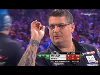 Gary Anderson vs Peter Wright (PDC World Darts Championship 2017 / Semi Final)