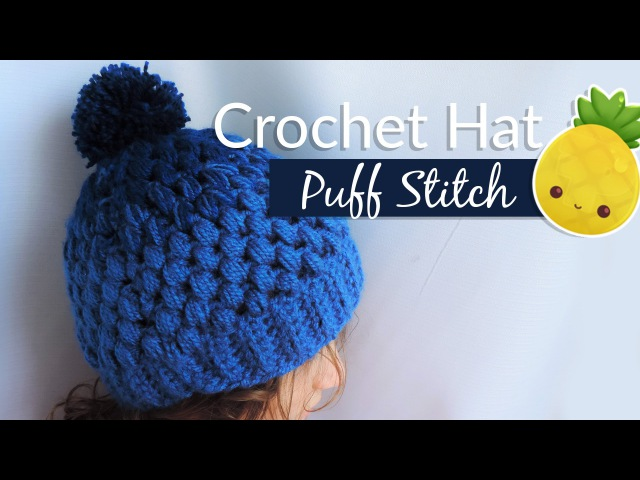 Gradient hat with puff stitch Crochet Gorrito en punto piña