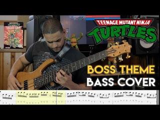 Teenage Mutant Ninja Turtles 2 - Boss Theme - Bass Cover - 8 bit glory