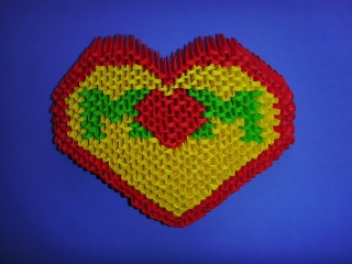 DIY Origami 3D Herz MOM Geschenk zum Muttertag, Geburtstag, Moter´s day Gift Ideas Heart Tutorial