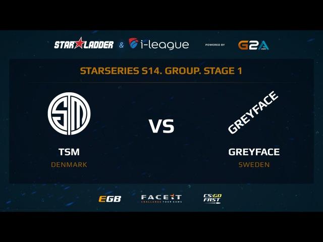 TSM vs GreyFace - Map 2 - Dust 2 2 (SL i-League StarSeries XIV)