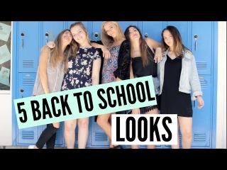 5 BACK TO SCHOOL OUTFITS ft. Kenzie Elizabeth, Danielle Marie, Brooke Miccio & Molly Anne