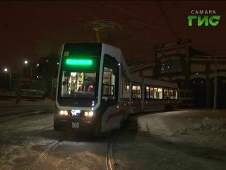 Испытания нового трамвая УКВЗ 71-633 в Самаре. Март 2016 г.