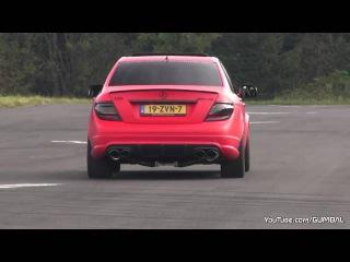Mercedes C63 AMG один из самых громких выхлопов!
