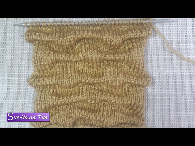 Узор спицами СКЛАДКИ (Клоке). Вязание спицами 390 » FreeWka - Смотреть онлайн в хорошем качестве