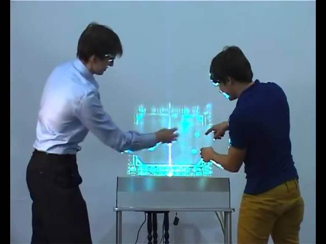 Российские ученые представили дисплей из воздуха и воды