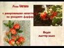 розы из холодного фарфора с реверсивными лепестками
